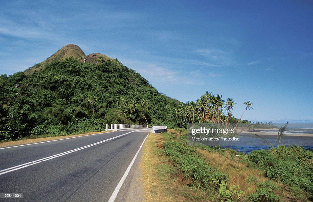 Natadola Beach Road, Nadi, Viti Levu Island, Fiji : Stock Photo