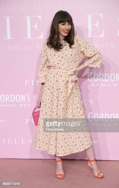 Nataia Ferviu attends the 'Pieles' premiere pink carpet at Capitol cinema on June 7 2017 in Madrid Spain