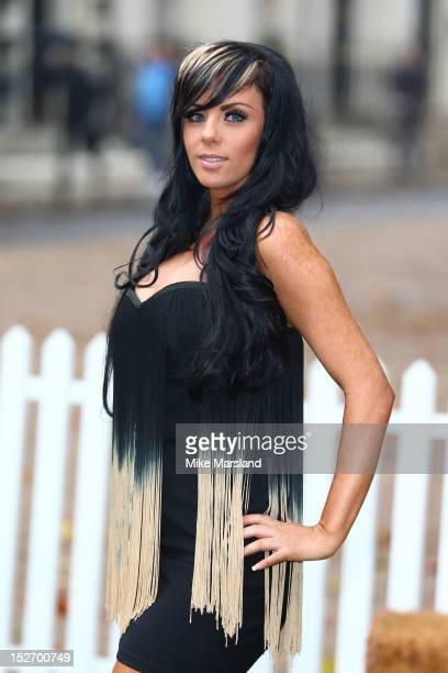 Natalee Harris attends a photocall ahead of the new series of 'The Valleys' on September 24 2012 in London England
