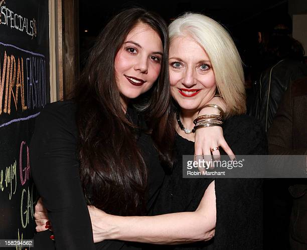 Natali Germanotta and Cynthia Germanotta attend the Viral Fashion launch party at Joanne Trattoria on December 12 2012 in New York City