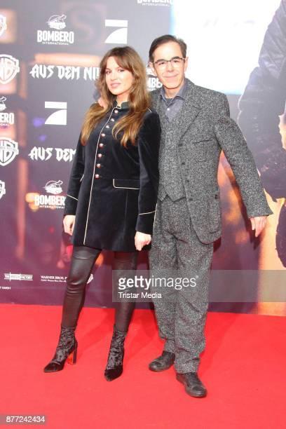 Natalia Avelon and Oscar Ortega Sanchez attend the German premiere 'Aus dem Nichts' on November 21 2017 in Hamburg Germany
