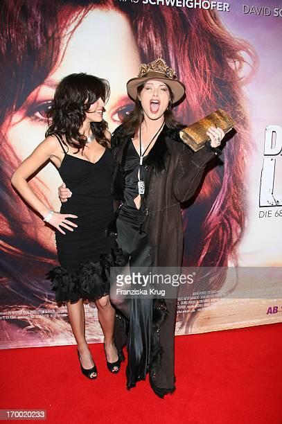 Natalia Avelon And Uschi Obermaier at The Wild Life movie premiere in Munich Mathäser