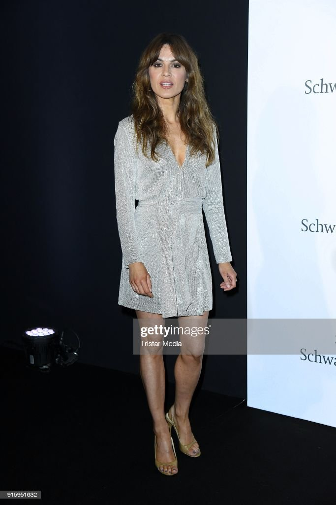 Natalia Avelon attends the 120th anniversary celebration of Schwarzkopf at U3 subway tunnel Potsdamer Platz on February 8, 2018 in Berlin, Germany.