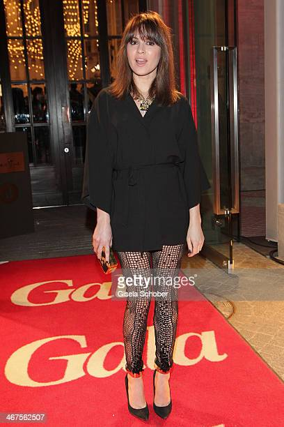 Natalia Avelon attends the Berlin Opening Night Of Gala Ufa Fiction during the 64th Berlinale International Film Festival at Hotel Das Stue on...