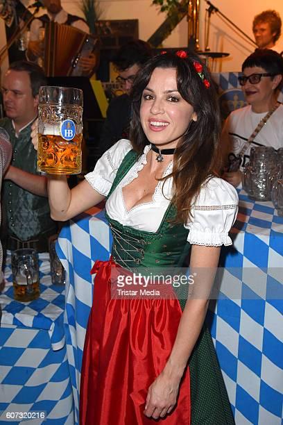 Natalia Avelon attends the WiesnAnstich im Hofbraeuhaus Berlin on September 17 2016 in Berlin Germany