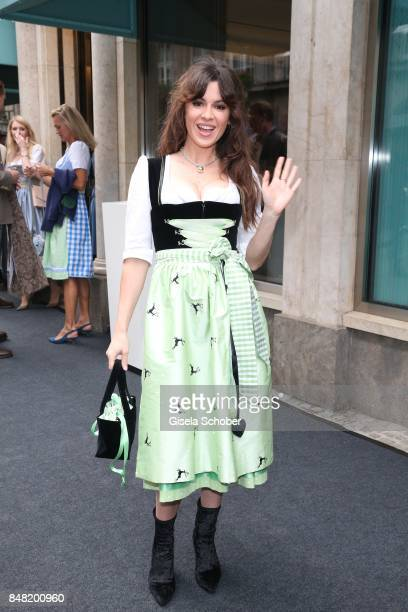 Natalia Avelon during the 'Fruehstueck bei Tiffany' at Tiffany Store ahead of the Oktoberfest on September 16, 2017 in Munich, Germany.