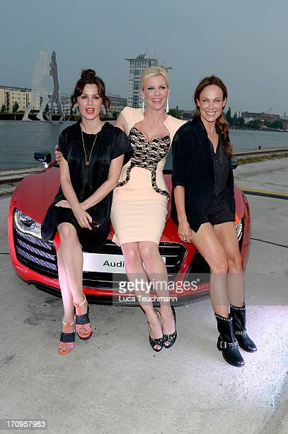 Natalia Avelon Eva Habermann and Sonja Kirchberger attend the Audi Urban Cinema on June 20 2013 in Berlin Germany