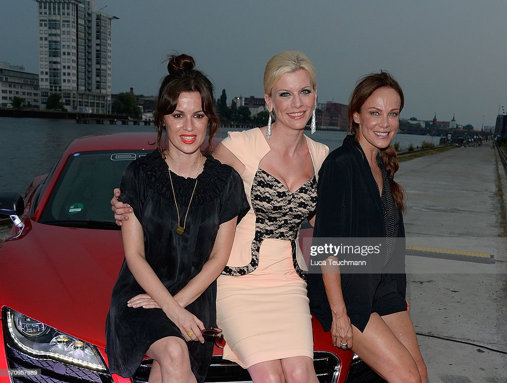 Natalia Avelon, Eva Habermann and Sonja Kirchberger attend the ' Audi Urban Cinema ' on June 20, 2013 in Berlin, Germany.