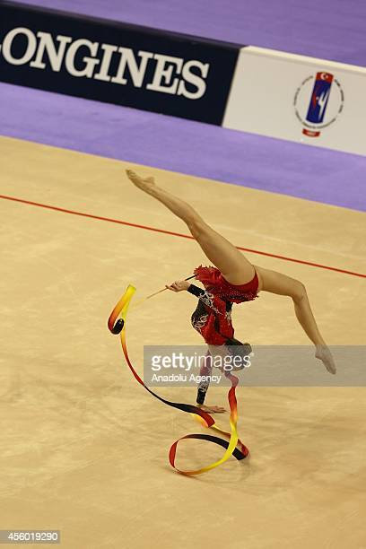 Natalia Azevedo Gaudio of Brasil competes during the 33rd Rhythmic Gymnastics World Championships in Izmir Turkey on September 24 2014