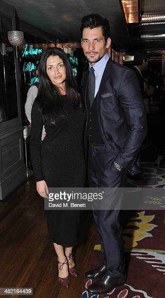 Natalia Barbieri and David Gandy attends a drinks reception hosted by Ben Fogle and Bernie Shrosbree to celebrate Johnnie Walker Blue Label Alfred...