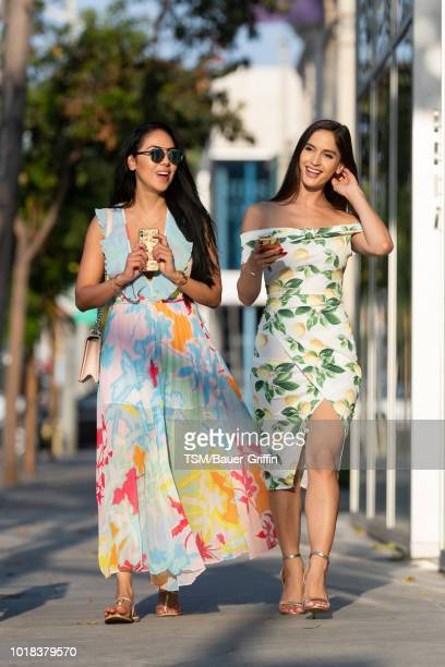 Natalia Barulich and Esther Anaya are seen on August 16, 2018 in Los Angeles, California.