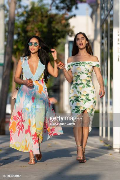 Natalia Barulich and Esther Anaya are seen on August 16 2018 in Los Angeles California