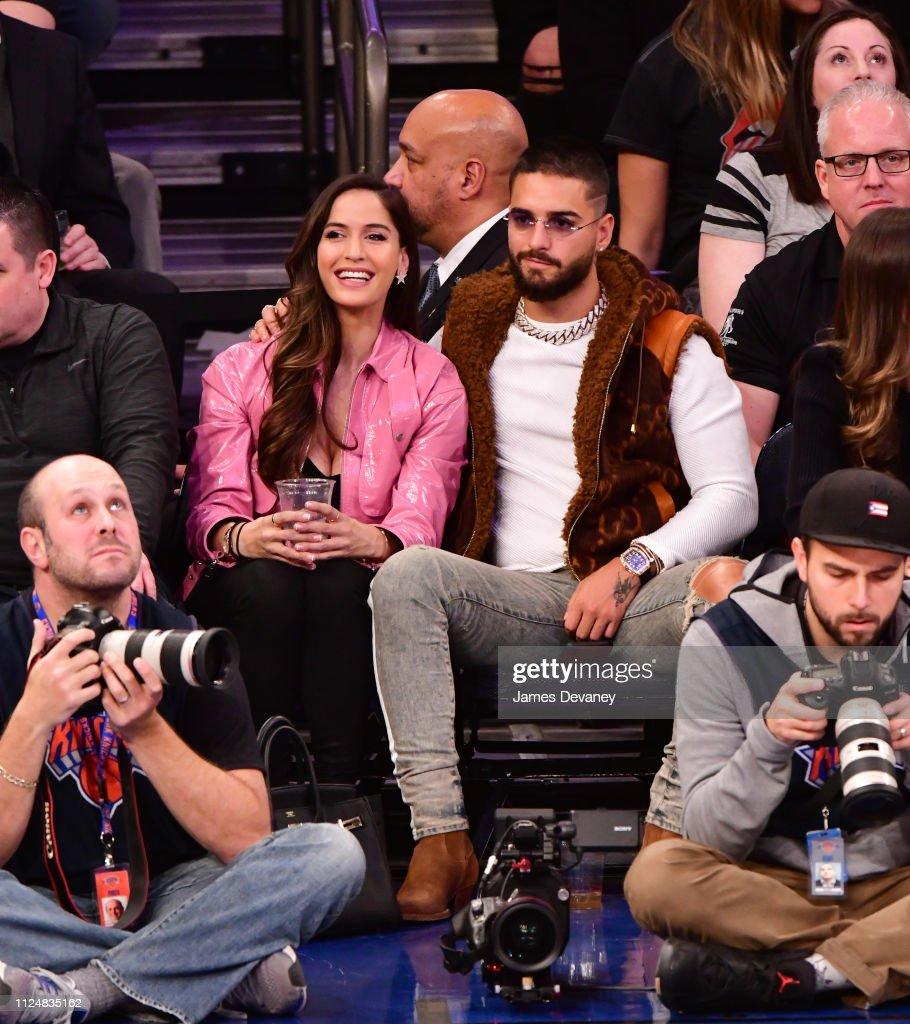 NY: Celebrities Attend Philadelphia 76ers v New York Knicks