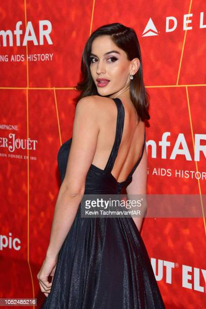 Natalia Barulich attends amfAR Los Angeles 2018 at Wallis Annenberg Center for the Performing Arts on October 18 2018 in Beverly Hills California