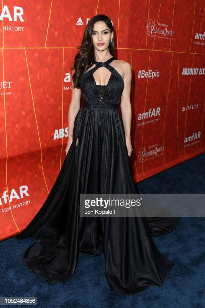 Natalia Barulich attends the amfAR Gala Los Angeles 2018 at Wallis Annenberg Center for the Performing Arts on October 18 2018 in Beverly Hills...