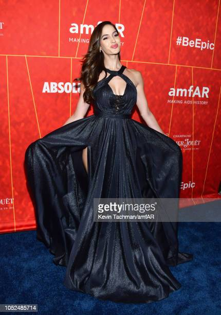 Natalia Barulich attends the amfAR Gala Los Angeles 2018 at Wallis Annenberg Center for the Performing Arts on October 18, 2018 in Beverly Hills,...