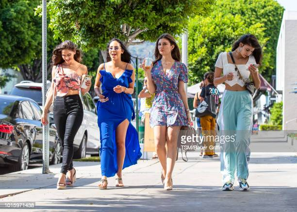 Natalia Barulich Esther Anaya Alexis Marquez and Abla Sofy are seen on August 12 2018 in Los Angeles California