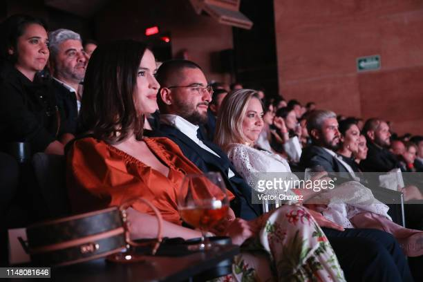 Natalia Barulich Maluma and Marlli Arias attend the Premiere Of YouTube Original's Maluma Lo Que Era Lo Que Soy Lo Que Seré at Auditorio BlackBerry...