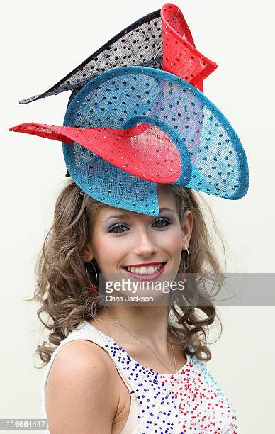 Natalia Beach wears a 'Help For Heroes' themed hat on day four of Royal Ascot at Ascot Racecourse on June 17, 2011 in Ascot, United Kingdom.