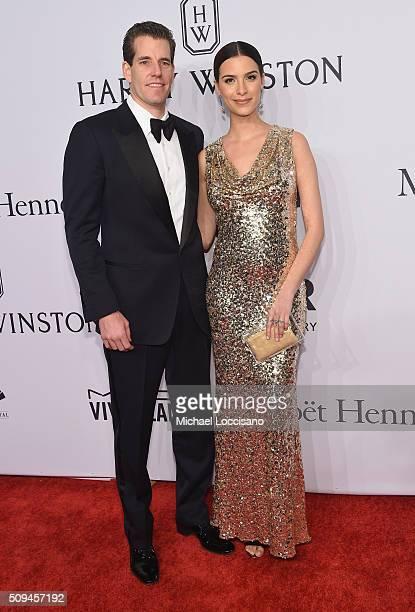 Natalia Beber and Cameron Winklevoss attend 2016 amfAR New York Gala at Cipriani Wall Street on February 10 2016 in New York City