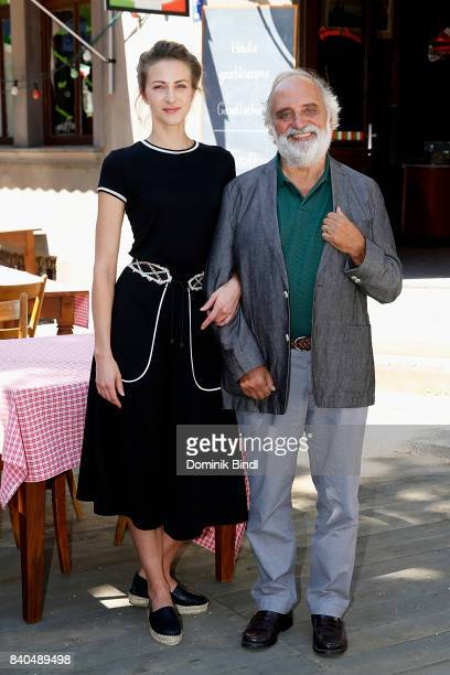 Natalia Belitski and Alessandro Bressanello poses during the set visit of the ZDF show 'Bella Germania' on August 29 2017 in Munich Germany