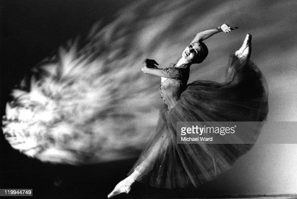 Natalia Bessmertnova of the Bolshoi Ballet dancing 'Romeo and Juliet' at the Coliseum, 1989.