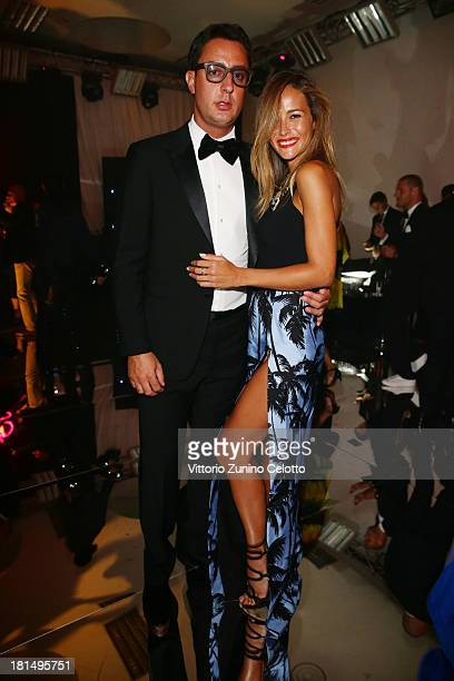 Natalia Borges and guest attend the amfAR Milano 2013 Gala after party presented by Vionnet as part of Milan Fashion Week Womenswear Spring/Summer...