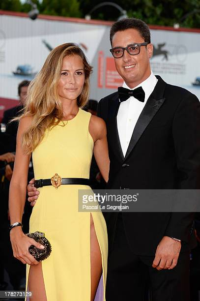 Natalia Borges and Lorenzo Tonetti attend the Opening Ceremony And 'Gravity' Premiere during the 70th Venice International Film Festival at the...