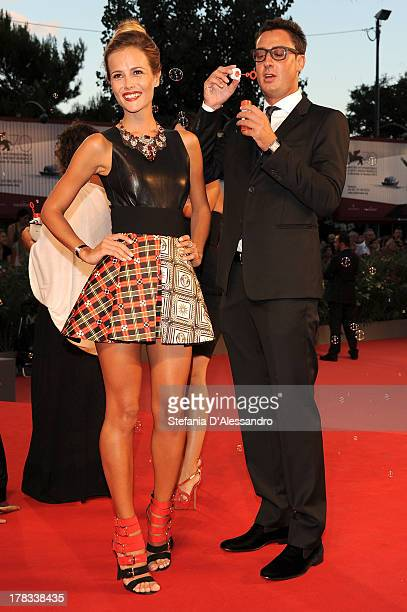 Natalia Borges and Lorenzo Tonetti attend Tracks Premiere during the 70th Venice International Film Festival at Sala Grande on August 29 2013 in...