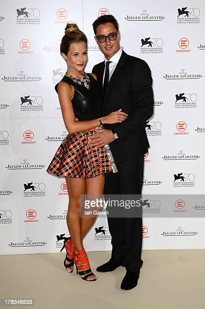Natalia Borges and Lorenzo Tonetti wear a JaegerLeCoultre watches while attending the 'Emergency JaegerLeCoultre In Aid Of The Goderich Centre Sierra...