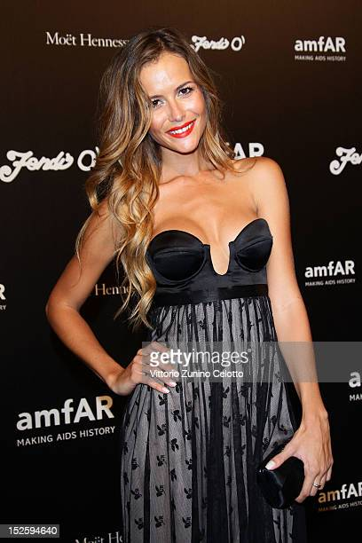 Natalia Borges attends the amfAR Milano 2012 After Party Presented By Fendi'O during Milan Fashion Week at La Permanente on September 22 2012 in...