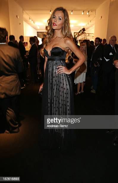 Natalia Borges attends the amfAR Milano 2012 Cocktail reception during Milan Fashion Week at La Permanente on September 22 2012 in Milan Italy