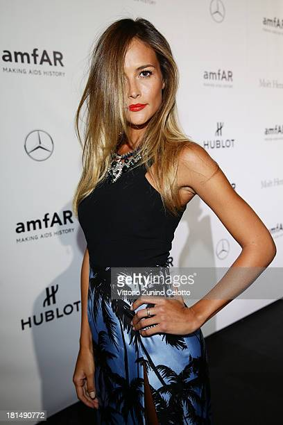 Natalia Borges attends the amfAR Milano 2013 Gala as part of Milan Fashion Week Womenswear Spring/Summer 2014 at La Permanente on September 21 2013...