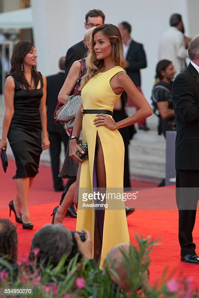 Natalia Borges on the red carpet for the premiere of 'Gravity' during the 70th Venice International Film Festival