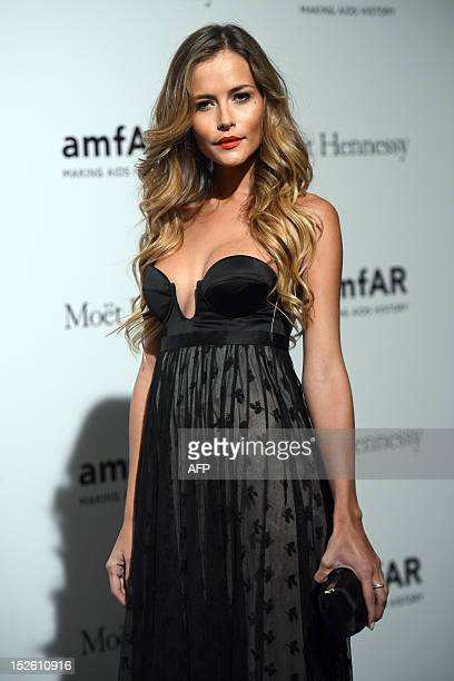 Natalia Borges poses upon arrival for the fourth annual benefit for AIDS research of the amfAR on September 22 2012 during the Women's fashion week...