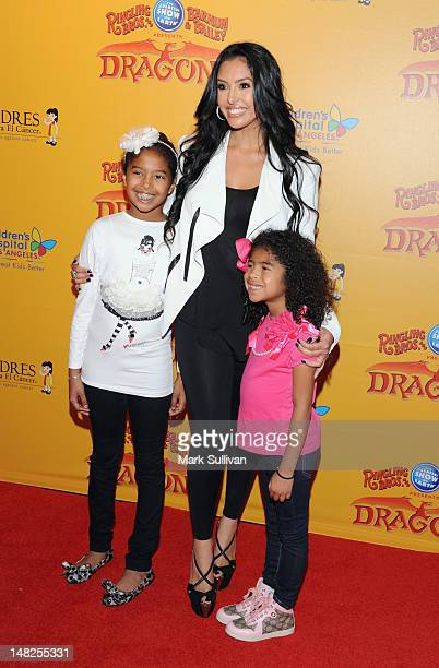 Natalia Bryant Vanessa Bryant and Gianna Bryant attend the Los Angeles premiere of Ringling Bros and Barnum Bailey DRAGONS at Staples Center on July...