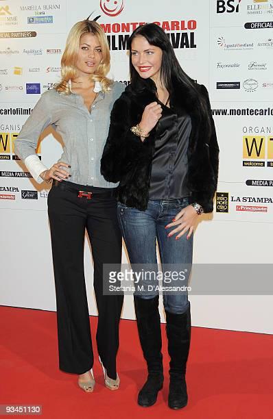 Natalia Bush and Delisa Varik attend the 'In The Air' Premiere during the 9th Monte-Carlo Film Festival de la Comedie at Grimaldi Forum on November...