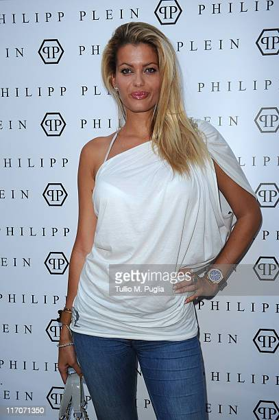 Natalia Bush attends the Philipp Plein cocktail party after fashion show as part of Milan Fashion Week Menswear Spring/Summer 2012 on June 20, 2011...