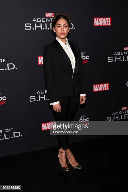 Natalia CordovaBuckley attends the 100th episode celebration of ABC's Marvel's Agents of SHIELD at OHM Nightclub on February 24 2018 in Hollywood...