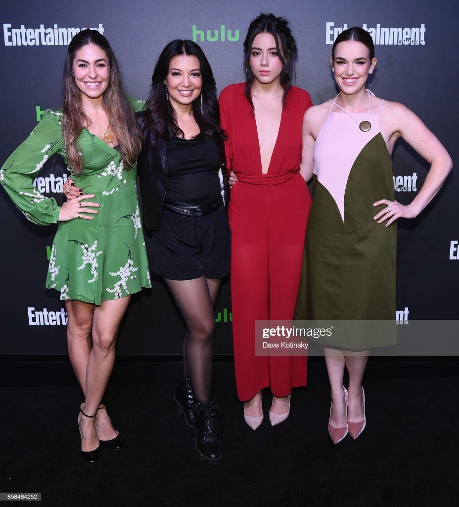Natalia Cordova-Buckley, Ming-Na Wen, Chloe Bennet and Elizabeth Henstridge attend Hulu's New York Comic Con After Party at The Lobster Club on October 6, 2017 in New York City.