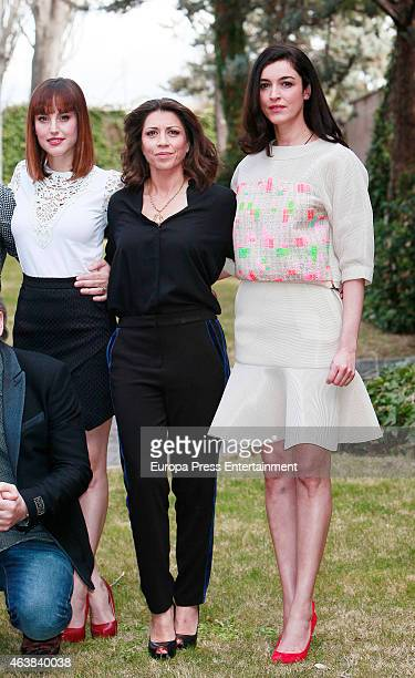 Natalia de Molina Alicia Borrachero and Blanca Romero attend the presentation of 'Bajo Sospecha' on February 16 2015 in Madrid Spain