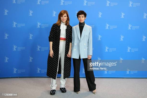Natalia de Molina and Greta Fernandez pose at the photocall for the Netflix film Elisa Y Marcela during the 69th Berlinale International Film...