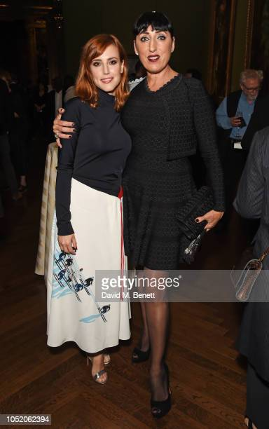 Natalia de Molina and Rossy de Palma attend the Academy Of Motion Pictures Arts and Sciences 2018 new members party at The National Gallery on...