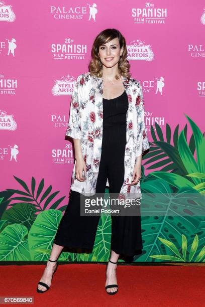 Natalia de Molina arrives ahead of the premiere of 'Kiki Love to Love' for the opening of the Spanish Film Festival at The Astor Cinema on April 20...