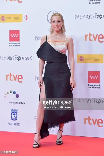 Natalia de Molina attends 'Jose Maria Forque Awards' 2021 red carpet at IFEMA on January 16, 2021 in Madrid, Spain.