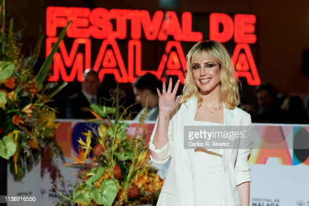 Natalia de Molina attends 'Staff Only' premiere at the Cervantes Theater during the 22th Malaga Film Festival on March 19, 2019 in Malaga, Spain.