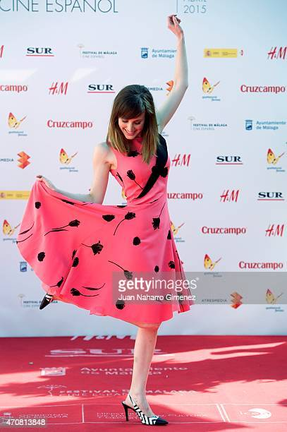 Natalia de Molina attends the 'Techo y Comida' photocall during the 18th Malaga Spanish Film Festival at the Cervantes Theater on April 23 2015 in...
