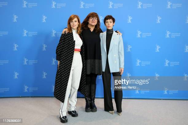 Natalia de Molina Director Isabel Coixet and Greta Fernandez pose at the photocall for the Netflix film Elisa Y Marcela during the 69th Berlinale...
