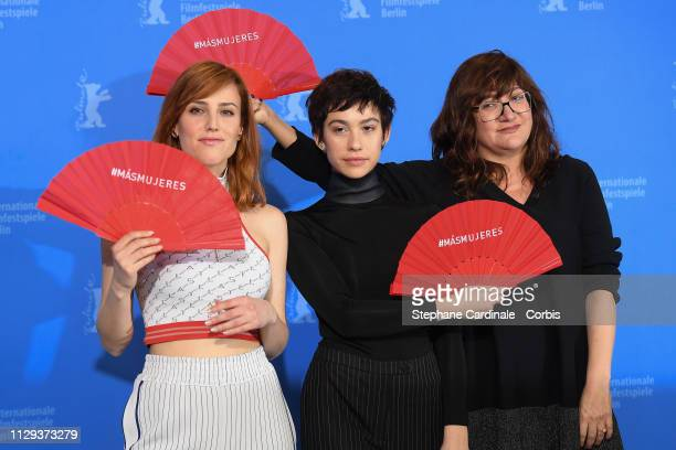 Natalia de Molina Greta Fernandez and Director Isabel Coixet pose at the photocall for the Netflix film Elisa Y Marcela during the 69th Berlinale...