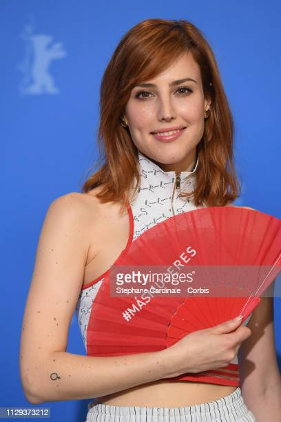 Natalia de Molina poses at the photocall for the Netflix film Elisa Y Marcela during the 69th Berlinale International Film Festival Berlin at Grand...